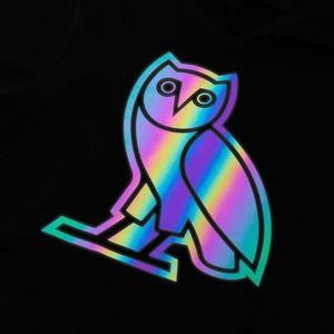 Octobers Very Own OVO Drake Owl Hologram Hoodie L